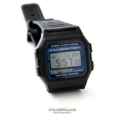 CASIO卡西歐 休閒運動藍黑方型電子運動手錶腕表 中性潮流 有保固 柒彩年代【NE1437】原廠公司貨 0