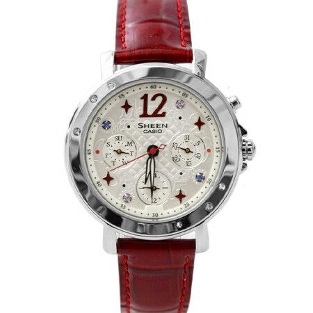 CASIO卡西歐SHEEN系列 華麗繽紛光芒系列霓虹照明指針皮帶腕錶手錶 柒彩年代【NE1466】原廠公司貨 0