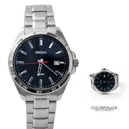 SEIKO精工SEIKO精工 深藍簡約設計士石英腕錶 不鏽鋼手錶 柒彩年代【NE1479】原廠平行輸入 0