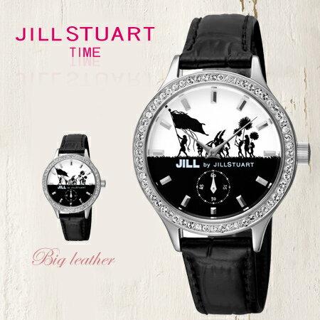 JILL STUART 女孩歡慶隊伍錶盤設計黑色皮革腕錶手錶 獨立秒盤 日本限量 柒彩年代【NE1012】原廠公司貨 0