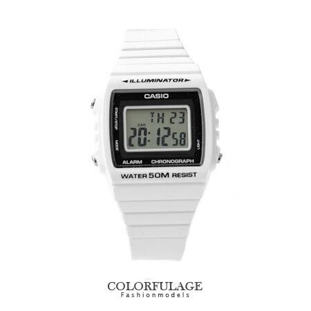 CASIO卡西歐 復古春漾純白電子 手錶腕表 中性潮流 有 柒彩年代~NE1140~ 貨