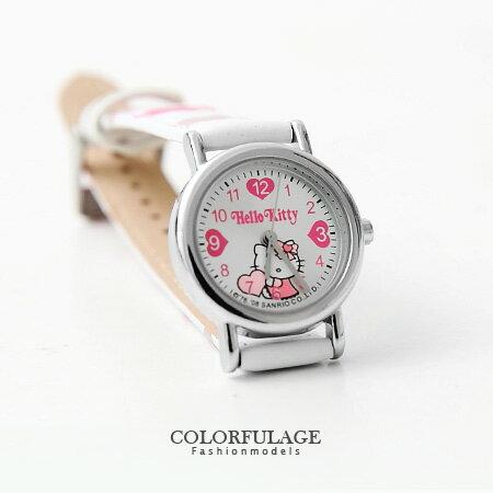 兒童錶 Hello Kitty小朋友手錶 可愛凱蒂貓造型 清楚數字刻度 柒彩年代【NE1099】原廠公司貨 0