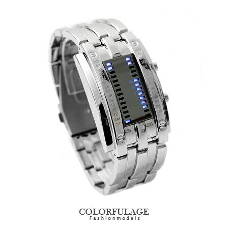 電子錶 未來感設計 觸控藍光LED電子手錶腕表 潮流型男專屬 柒彩年代【NE1136】單支 0
