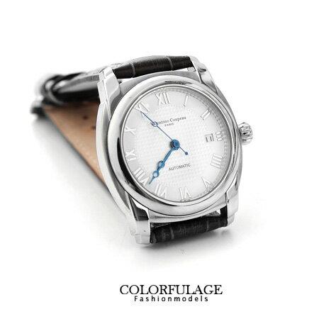 Valentino范倫鐵諾 羅馬數字南極光真皮手錶 柒彩年代【NE1055】單支價格 0