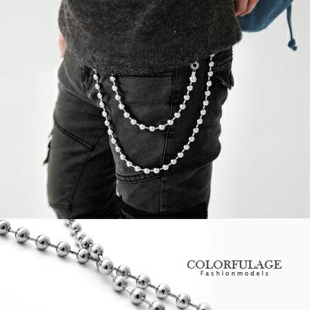 腰鍊 特色單排立體小鋼珠造型腰鍊褲鏈 東區小物 街頭型男 柒彩年代【NF64】禮物 0