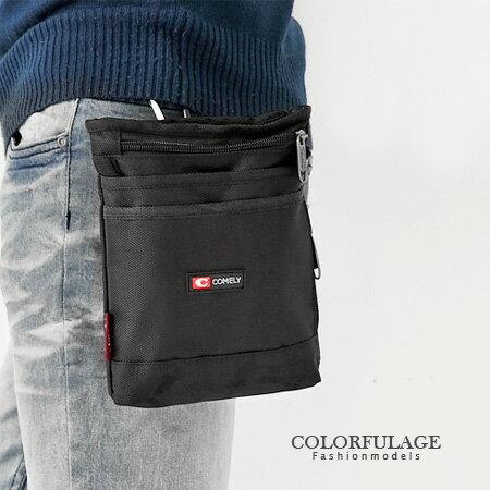 潮流街頭型男腰包.掛包 超實用隨身小物 可當側背包 柒彩年代【NZ350】簡約黑色 0