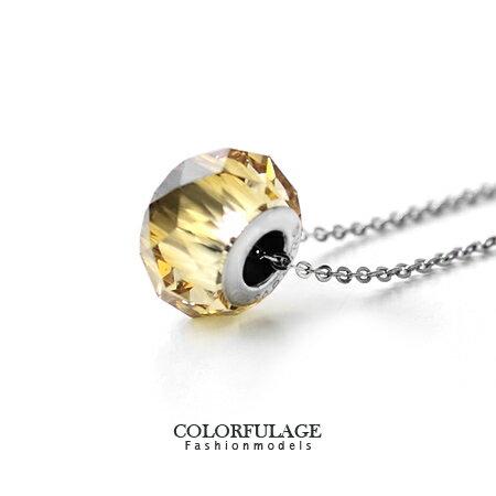 施華洛世奇水晶項鍊 採用Swarovski華麗切割面短墜 抗過敏.氧化 柒彩年代【NB584】 0