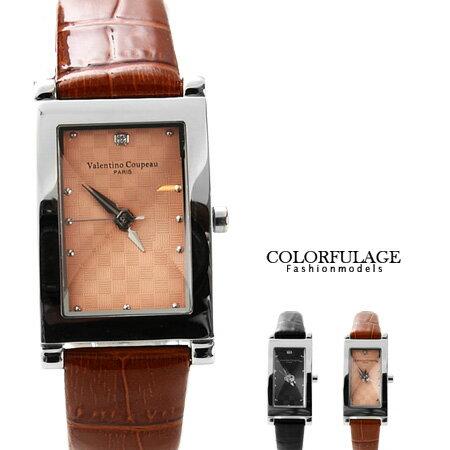 Valentino范倫鐵諾 切割美學經典格紋皮革手錶腕錶對錶 柒彩年代【NE1056】單支價格 0