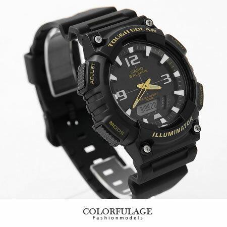 CASIO日本卡西歐太陽能手錶 路跑運動全黑雙顯腕錶 有保固優質店家 柒彩年代【NE1151】原廠公司貨 0