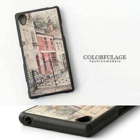 Sony Xperia Z1 L39h彩繪手機殼.保護殼 仿舊復古街景造型 柒彩年代【NL105】手機套 0