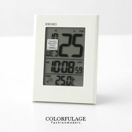 日本品牌SEIKO精工電子式鬧鐘 冷光液晶顯示大字座鐘 居家 柒彩年代【NE1195】原廠公司貨 0