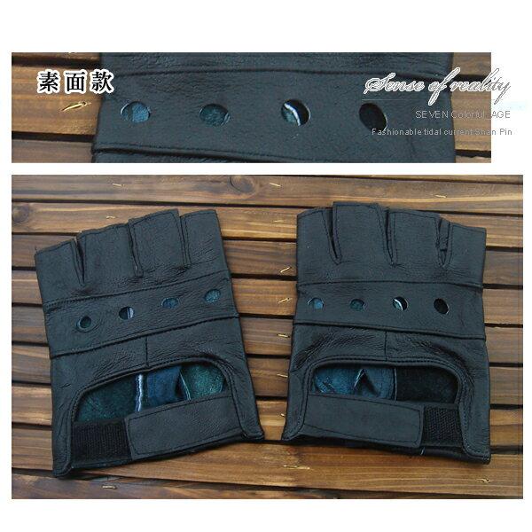 柒彩年代【NM1】獨家推出皮革手套~星星.卯釘. 不敗骷髏造型表演手套~藝人雜誌款式 街頭型男 0