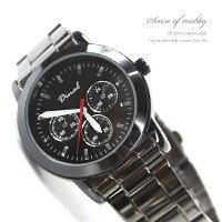 柒彩年代【NE133】時尚雜誌款手錶~仿三眼設計.情侶對錶腕錶.
