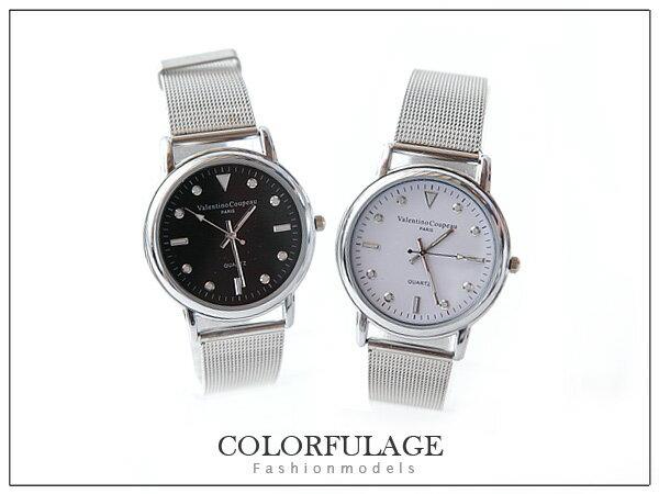 柒彩年代【NE206】范倫鐵諾Valentino原廠正品~錶帶設計.簡約質感~單支價格 0