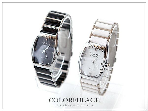 柒彩年代【NE214】范倫鐵諾Valentino原廠正品手錶~酒桶型陶瓷錶帶~單支價格 0