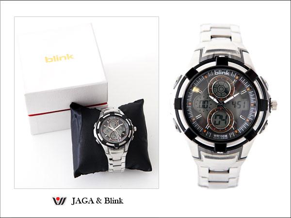柒彩年代【NE260】防水100米多功能雙顯電子運動錶 不銹鋼錶帶~JAGA 捷卡公司貨 0