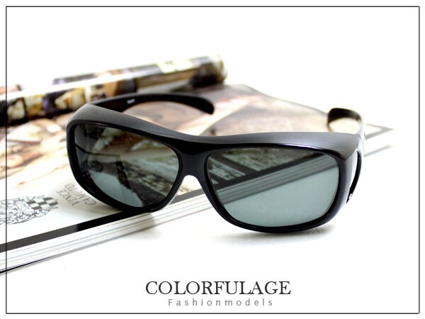 柒彩年代【NY122】近視族可戴 可內搭配眼鏡大鏡框太陽眼鏡~方形加大款~單隻價格 0