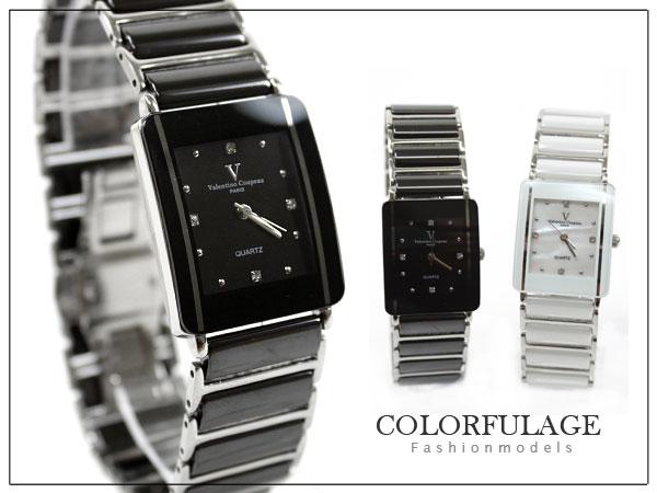 柒彩年代【NE334】范倫鐵諾Valentino高精密陶瓷腕錶 強化鏡面專櫃精品不銹鋼~單支價格 0