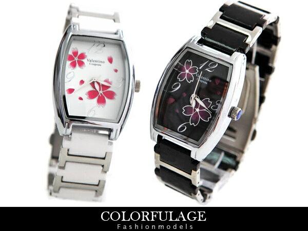 柒彩年代 【NE341】范倫鐵諾Valentino櫻花酒桶造型陶瓷錶手錶 單支價格 0