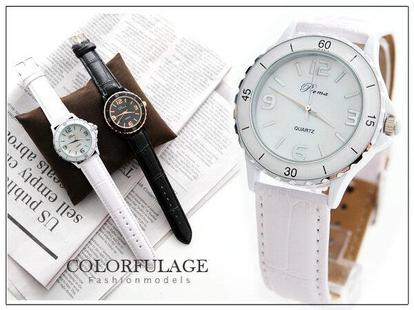 柒彩年代【NE355】時尚經典黑白色情侶對錶手錶 類品牌中性款情侶搭配 單支價格 0
