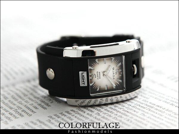 柒彩年代【NE421】JAGA捷卡石英冷光運動錶 個性型男手錶防水30米當兵著用~原廠公司貨 0