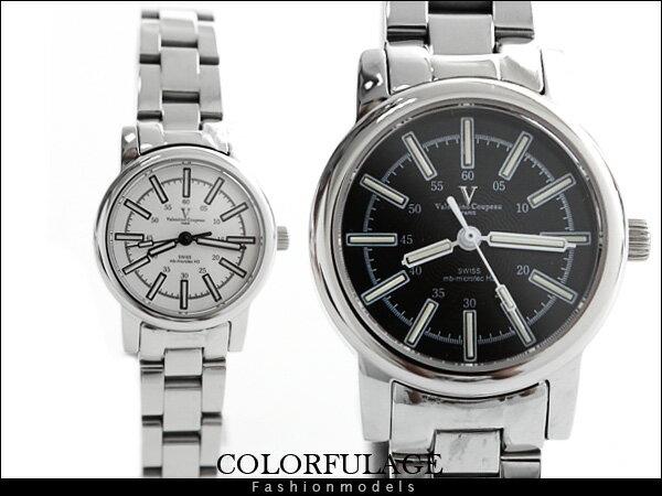 柒彩年代【NE428】瑞士氚氣燈管 自體發光水鬼腕錶 范倫鐵諾Valentino藍寶石手錶~單隻 0
