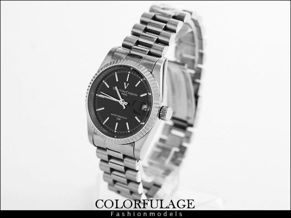 柒彩年代【AE431】范倫鐵諾Valentino自動機械手錶 實心全不銹鋼錶帶 型男專櫃腕錶~單支 0