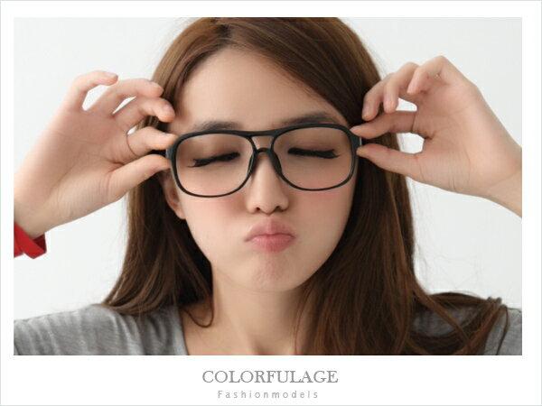 柒彩年代【NY124】東區店面時尚小物 低調霧面黑膠框眼鏡鏡框 中性單品˙單支價格 0