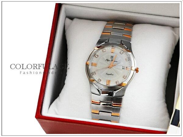 柒彩年代˙台灣品牌奧柏錶Olym Pianus手錶 藍寶石水晶鏡片 贈禮盒+保卡【NE502】原廠公司貨