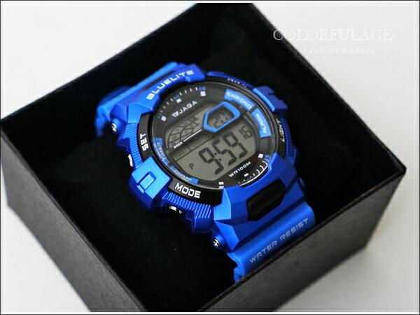 JAGA捷卡多功能流線電子手錶 防水高達100米 型男必搭錶 柒彩年代【NE722】單支 0