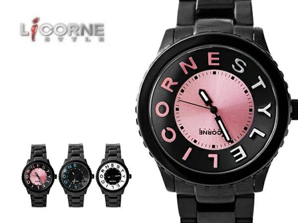 力抗LICORNE手錶 獨特漸層刻度 躍系列設計師款 型男大錶殼禮物 原廠公司貨【NE778】LI022MBPA 0