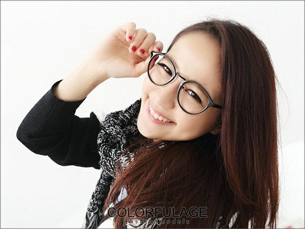 柒彩年代˙韓系文青造型質感圓框鏡框 百性復古膠框 【NY169】單支 0