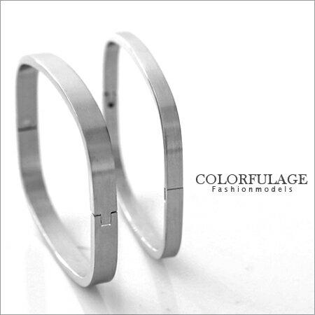 西德鋼手環 霧砂設計專櫃情人手環 簡約時尚基本百搭款 柒彩年代【NA223】單支 0