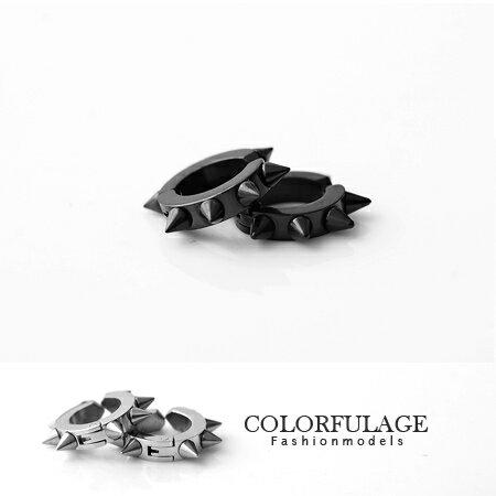 夾式耳環 沒有耳洞專用 西德鋼材質抗過敏.氧化 素面百搭 柒彩年代【ND145】單支價格 0