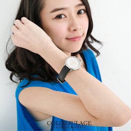 范倫鐵諾Valentino 玫瑰金數字真皮錶帶 中性款 對錶 原廠公司貨 柒彩年代【NE874】單支 0