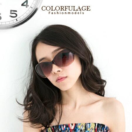 墨鏡 名模完美圓弧大框側邊崁入亮眼水鑽太陽眼鏡 名媛小臉必備 柒彩年代【NY222】單支價格 0