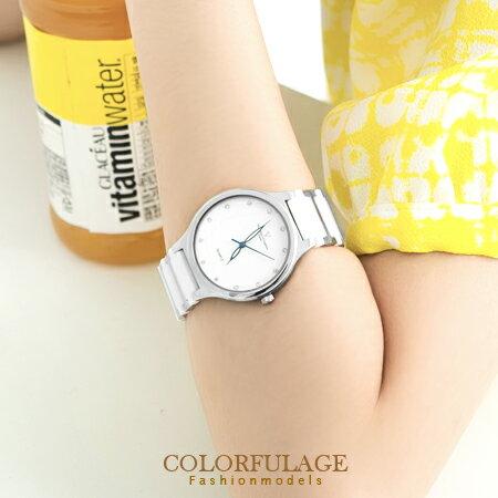 極簡時尚精密陶瓷不銹鋼錶款手錶 女孩氣質 范倫鐵諾Valentino 柒彩年代【NE526】原廠公司貨 0