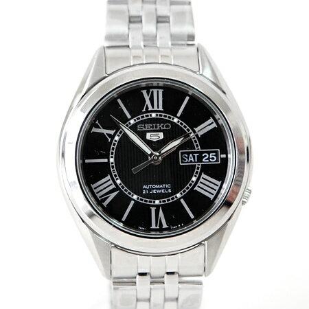 精工五號SEIKO自動上鍊機械錶 經典羅馬刻度 柒彩年代【NE256】精選禮物 贈禮盒+提袋 0