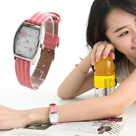 柒彩年代【NE410】 櫻花鑽石腕錶 Valentino范倫鐵諾 專櫃頂級經典酒桶名媛手錶~單支 0