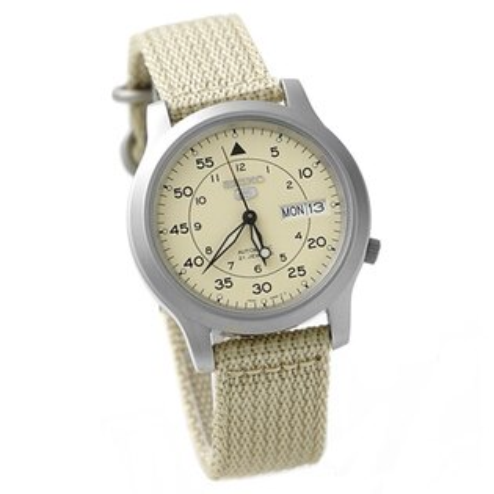 全新第二代 SEIKO精工五號腕錶 品味卡其配色 自動上鍊機械錶 柒彩年代【NE990】附贈禮盒+提袋