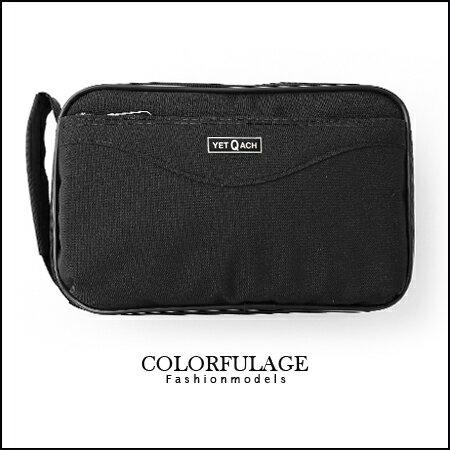 專屬低調黑色手提包 手提包 紳士品味超簡約全黑色澤 柒彩年代【NZ328】商務 0