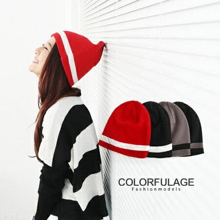 品味質感線條素面毛帽 秋冬保暖單品 彈性佳不分男女都可配戴 柒彩年代【NH123】單頂 0