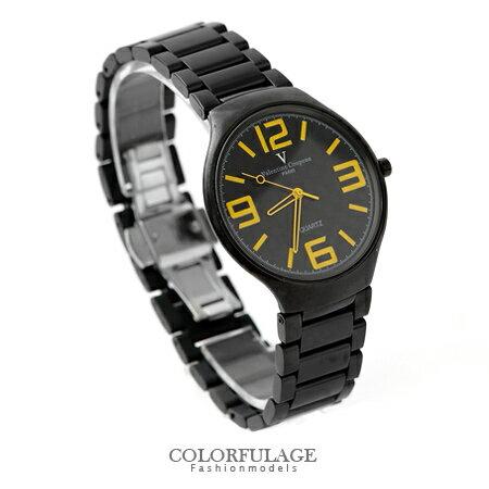Valentino范倫鐵諾 超薄設計美學全黑格紋數字手錶腕錶 柒彩年代【NE1041】原廠公司貨 0
