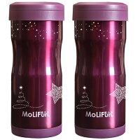 【愛戀對杯買一送一】MoliFun魔力坊 不鏽鋼雙層高真空附專利濾網保溫杯瓶350ml(SF0099)