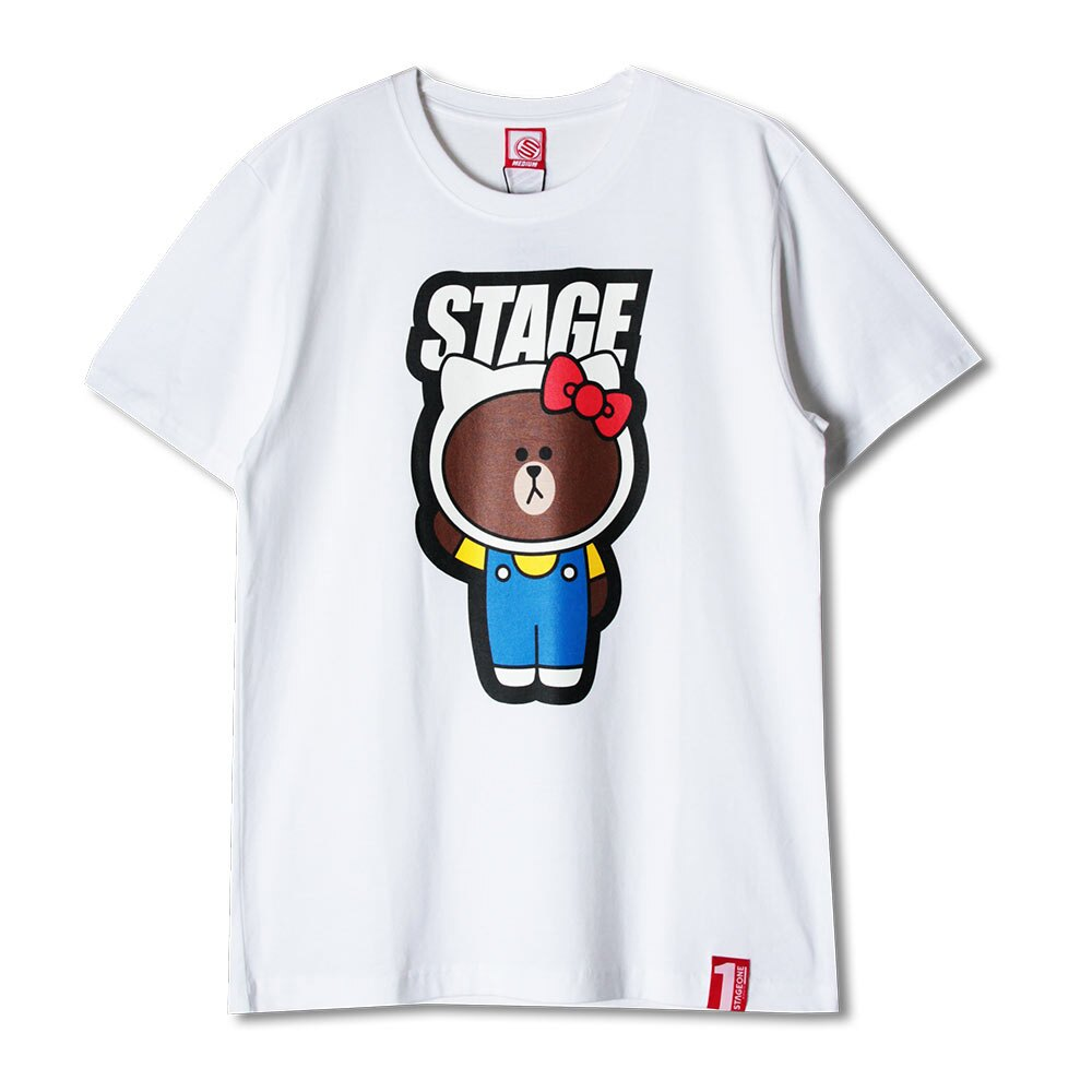 STAGE x HELLO FRIENDS 聯名限定 STAGE HELLO BROWN TEE 3