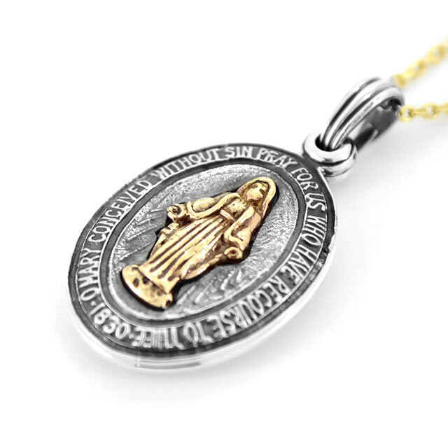 【海外訂購】【amp japan】聖母瑪麗亞純銀項鍊(AMP-13AH-360  0709220000) 1
