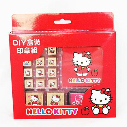 【敵富朗超巿】KITTY二代DIY盒裝印章組 0