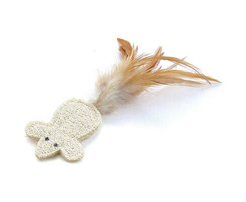 日本Tarky專利貓草舒壓玩具-絲瓜鼠-白