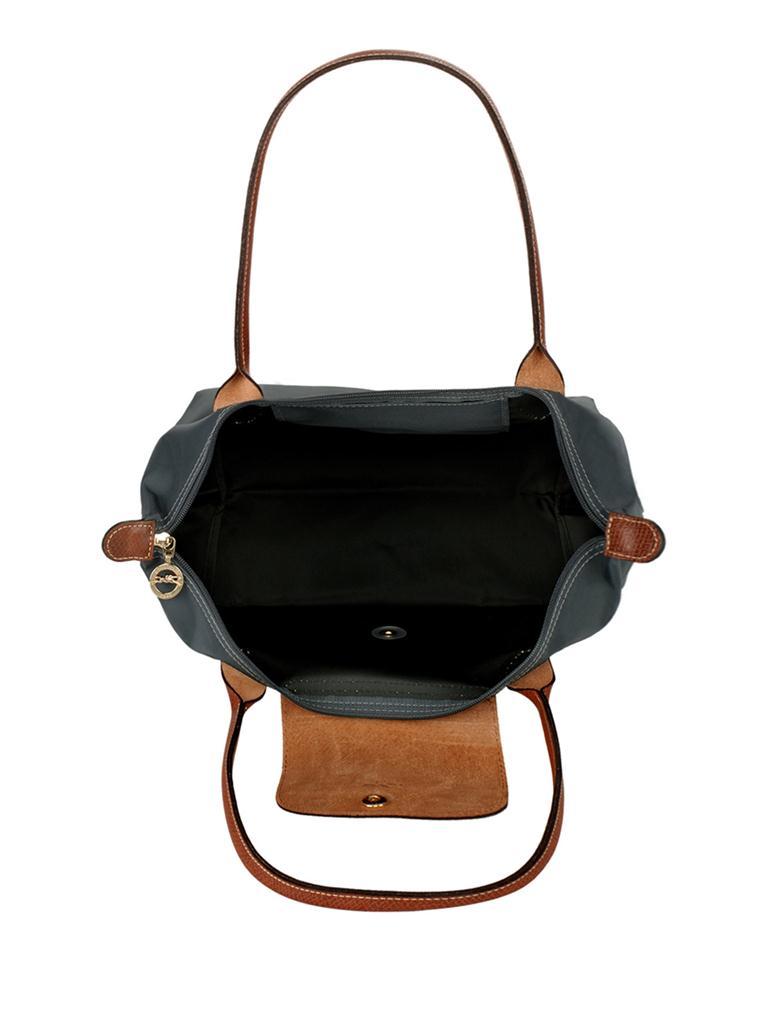 [2605-S號]國外Outlet代購正品 法國巴黎 Longchamp  長柄 購物袋防水尼龍手提肩背水餃包 石墨灰 3