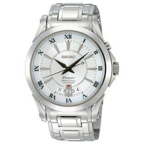 Seiko Premier 6A32-00R0S(SNQ107J1)萬年曆經典羅馬石英腕錶/白面41mm